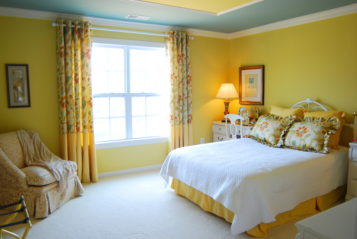 Breathtaking-Pink-Color-Ideas-of-Teenage-Bedroom-Applying-master-bedroom-yellow-walls-Girls-Bedroom-Furniture-by-Bed-and-Nightstand-with-Night-Lamp-and-Completed-with-Desk-sets